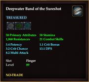 Deepwater Band of the Sureshot