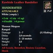 Rawhide Leather Bandolier