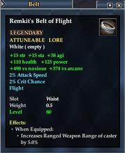 Remkit's Belt of Flight