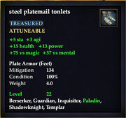 Steel platemail tonlets