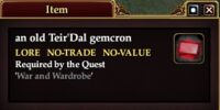 An old Teir'Dal gemcron