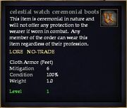 Celestial watch ceremonial boots