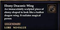 Ebony Draconic Wing