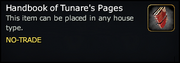 Handbook of Tunare's Pages