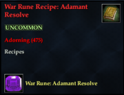 War Rune Recipe- Adamant Resolve
