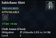 Sableflame Shirt