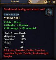 Awakened Scaleguard chain coif