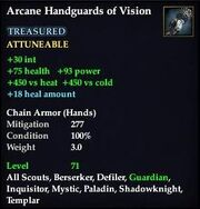 Arcane Handguards of Vision