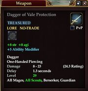 Dagger of Vale Protection