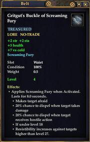 Gritgut's Buckle of Screaming Fury