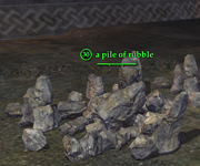 A pile of rubble