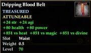 Dripping Blood Belt