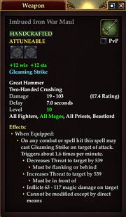 Imbued Iron War Maul