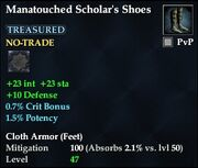 Manatouched Scholar's Shoes