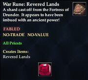 War Rune Revered Lands