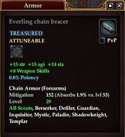 Everling chain bracer