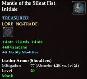 Mantle of the Silent Fist Initiate