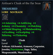 Artisans Cloak of the Far Seas