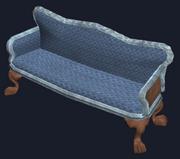 Elegant mahogany couch (Visible)