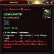Iron Reverent Bracers