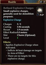 Refined Explosive Charges