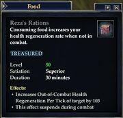 Reza's Rations
