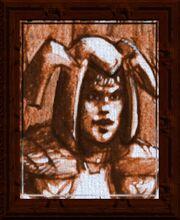 Sackcloth Portrait (Visible)