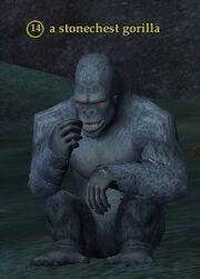 A stonechest gorilla