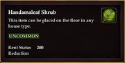 Handamaleaf Shrub