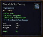 War Medallion Earring