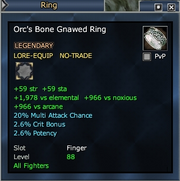 Orc's Bone Gnawed Ring