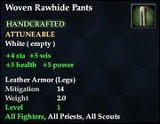 Woven Rawhide Pants