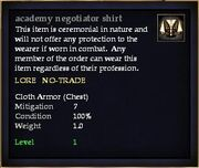 Academy negotiator shirt