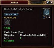 Dark Pathfinder's Boots