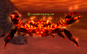 A smoldering king crab