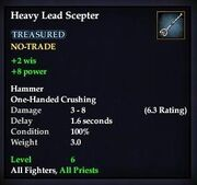 Heavy Lead Scepter