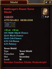 Battlerager's Frozen Tower Shield