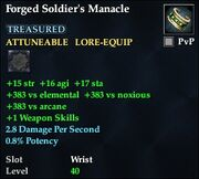 Forged Soldier's Manacle