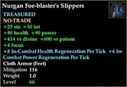Nurgan Foe-blaster's Slippers