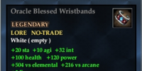 Oracle Blessed Wristbands