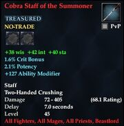 Cobra Staff of the Summoner