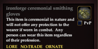 Ironforge ceremonial smithing gloves