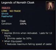 Legends of Norrath Cloak (ex)