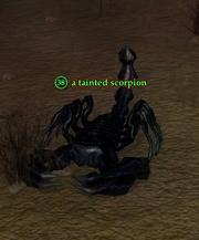 A tainted scorpion (Zek)