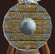 Shimmering Star Round Shield (Equipped)
