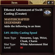 Ethereal Adornment of Swift Casting (Greater)