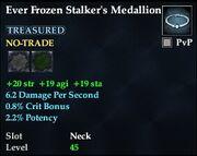 Ever Frozen Stalker's Medallion