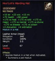 Hoo'Loh's Warding Hat
