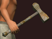 Imbued Iron War Hammer (Equipped)