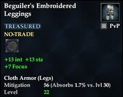 Beguiler's Embroidered Leggings